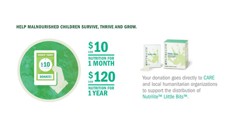 Join us and fight childhood malnutrition