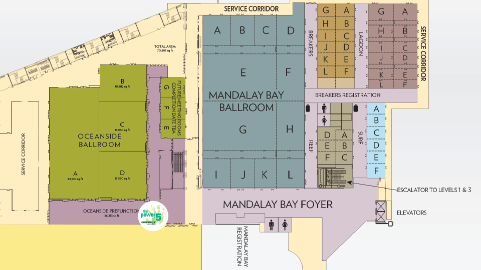 A60 Mandalay Bay Map
